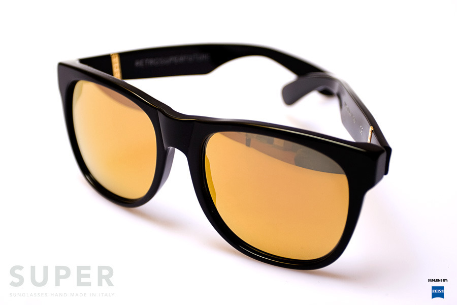 Super Flat Black 24k Sunglasses Super 052 Classic Black 24k